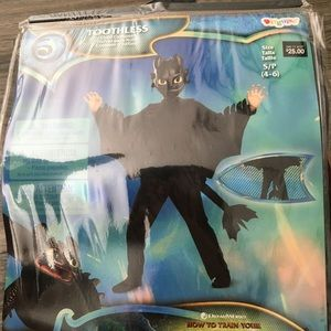 How to train your dragon toothless costume 4-6 new